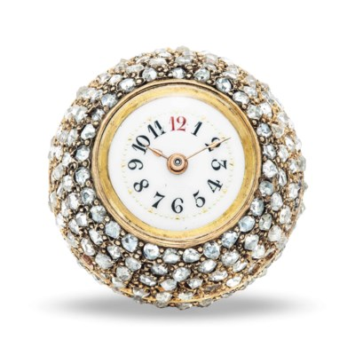 SWISS. AN 18K PINK GOLD AND DI