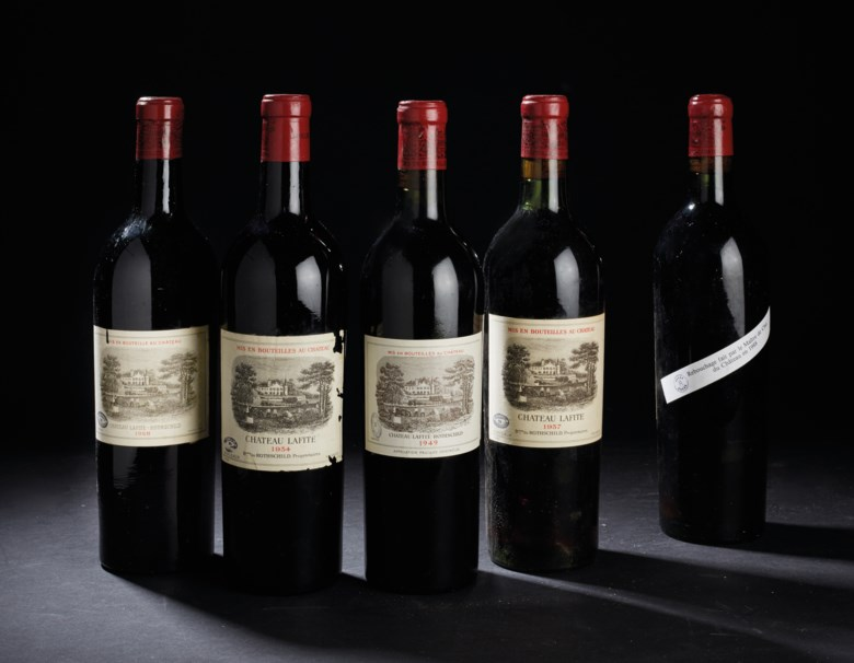 Château Lafite-Rothschild 1934 and 1928. Pauillac, 1er cru classé. Two bottles per lot. Sold for CHF1,528 on 17 May 2016 at Christie's in Geneva