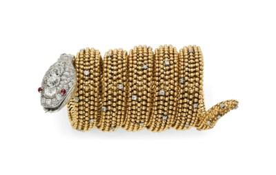 A DIAMOND AND RUBY 'SERPENTI'
