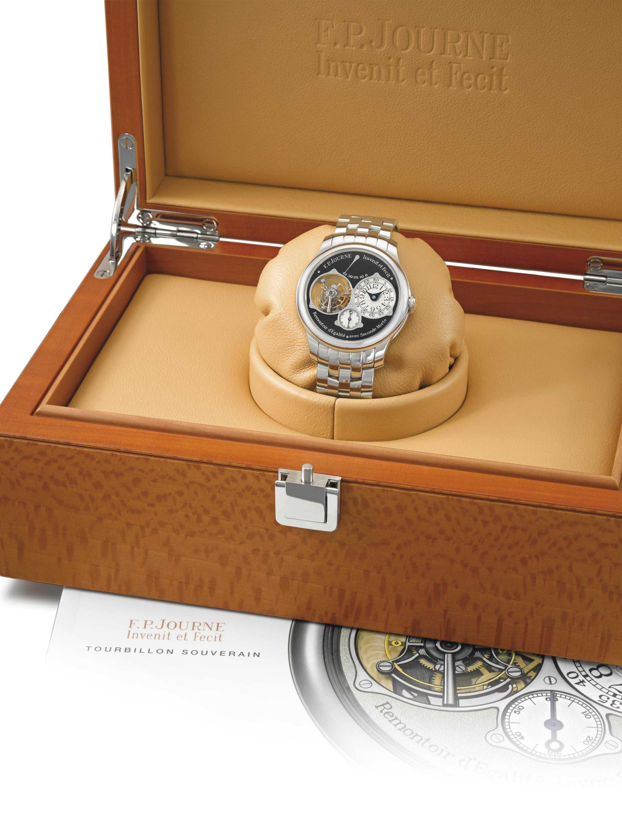 F.P. Journe. A very fine and very rare platinum tourbillon special edition wristwatch with constant force winding, power reserve, deadbeat second, box and certificate