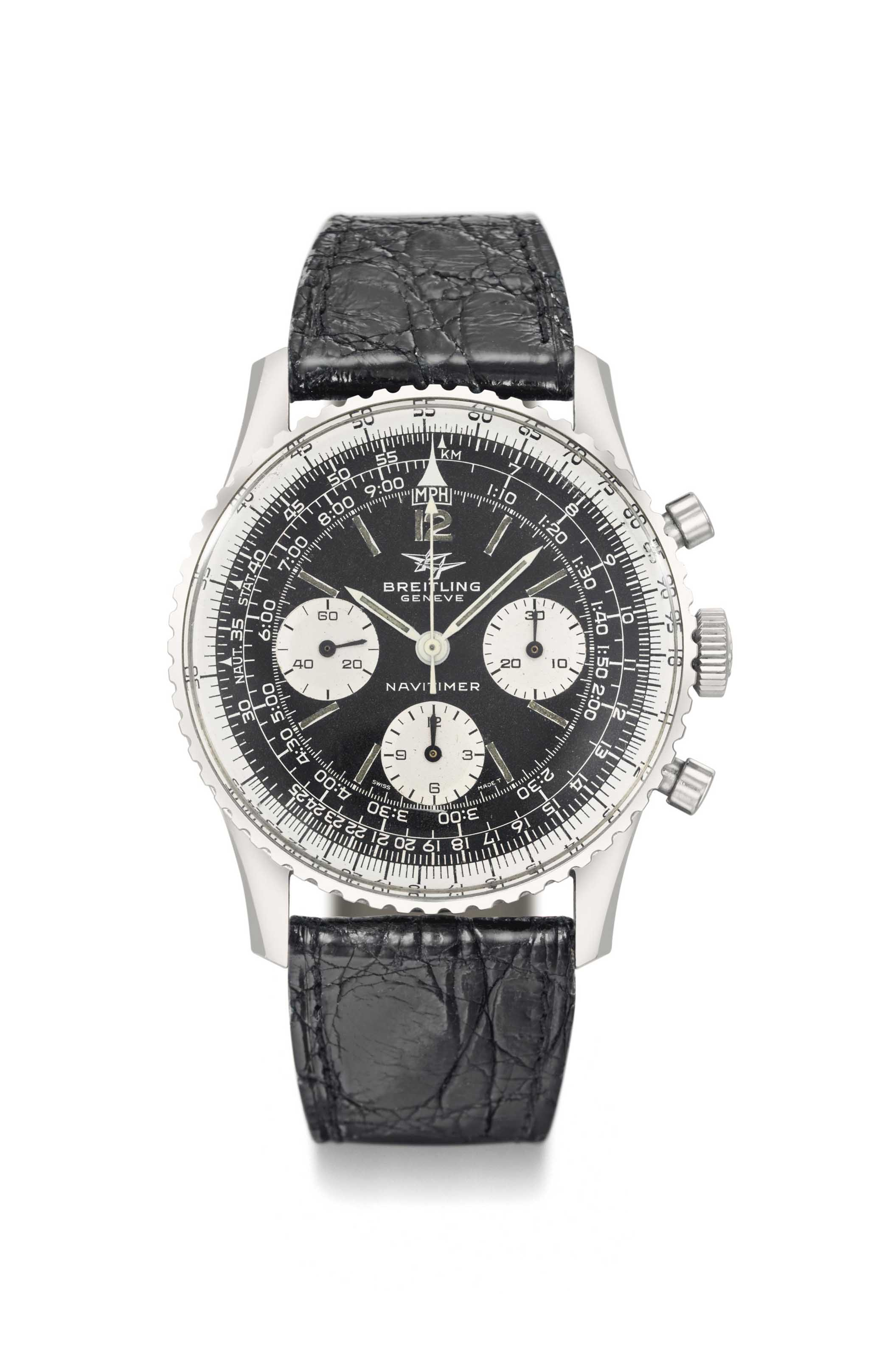 Breitling. A Large Stainless S