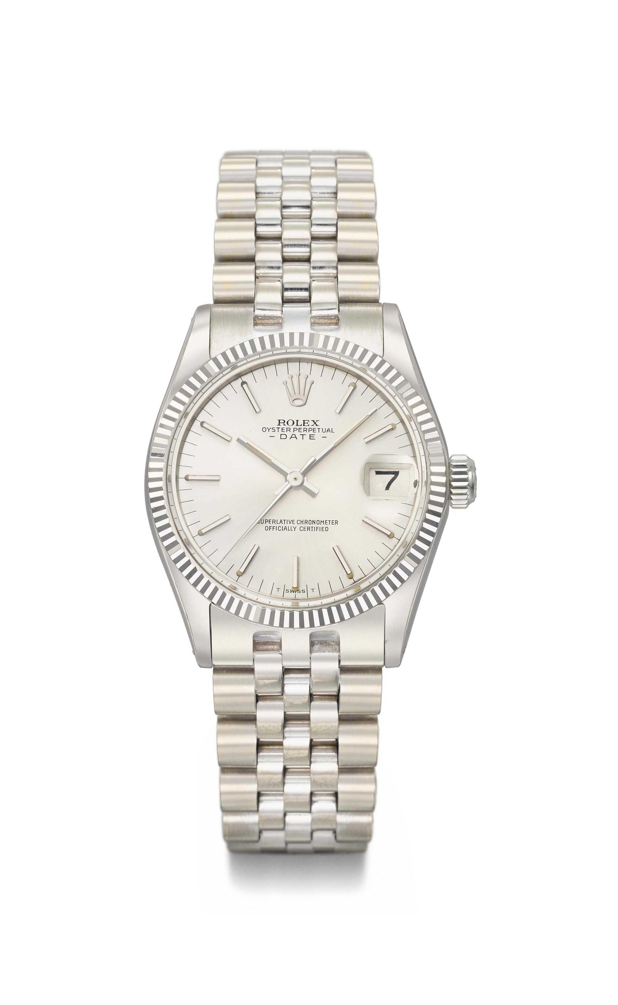 Rolex. A fine 18K white gold l