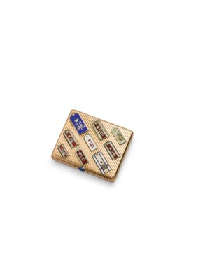 AN ENAMEL AND GOLD CIGARETTE C