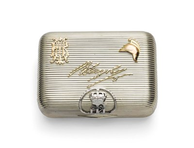 A SILVER CIGARETTE CASE MARKED