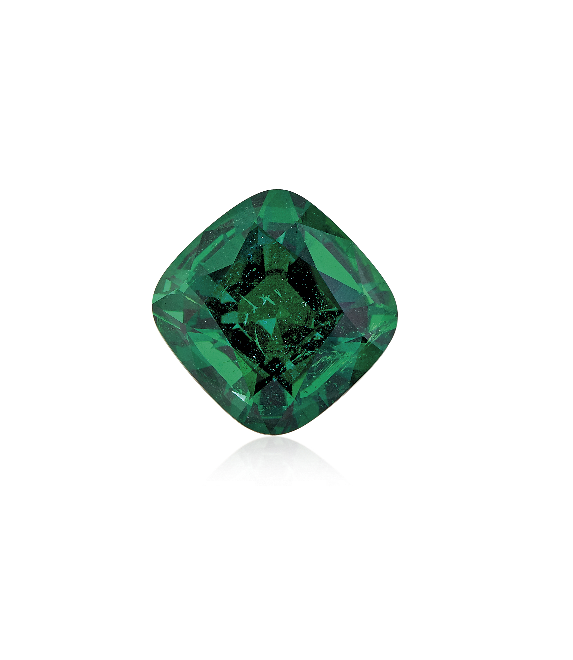 A RARE UNMOUNTED EMERALD