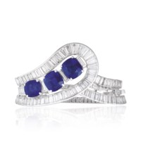 AN EXQUISITE SAPPHIRE AND DIAMOND BRACELET, BY VAN CLEEF & ARPELS