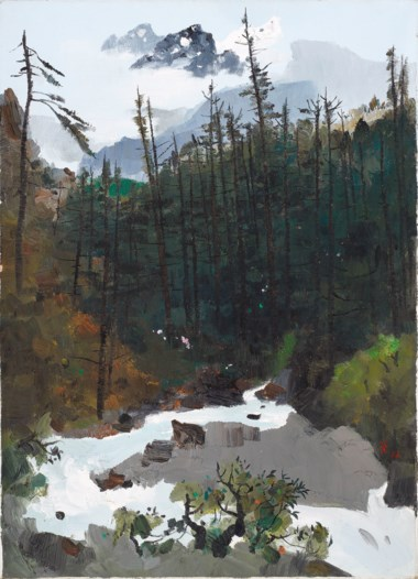 Wu Guanzhong (1919-2010), The Yulong Mountains After Rain, 1996. 91.4 x 65.2  cm (36 x 25⅞  in). Sold for HK$22,520,000 on 28 May 2016 at Christie's in Convention Hall