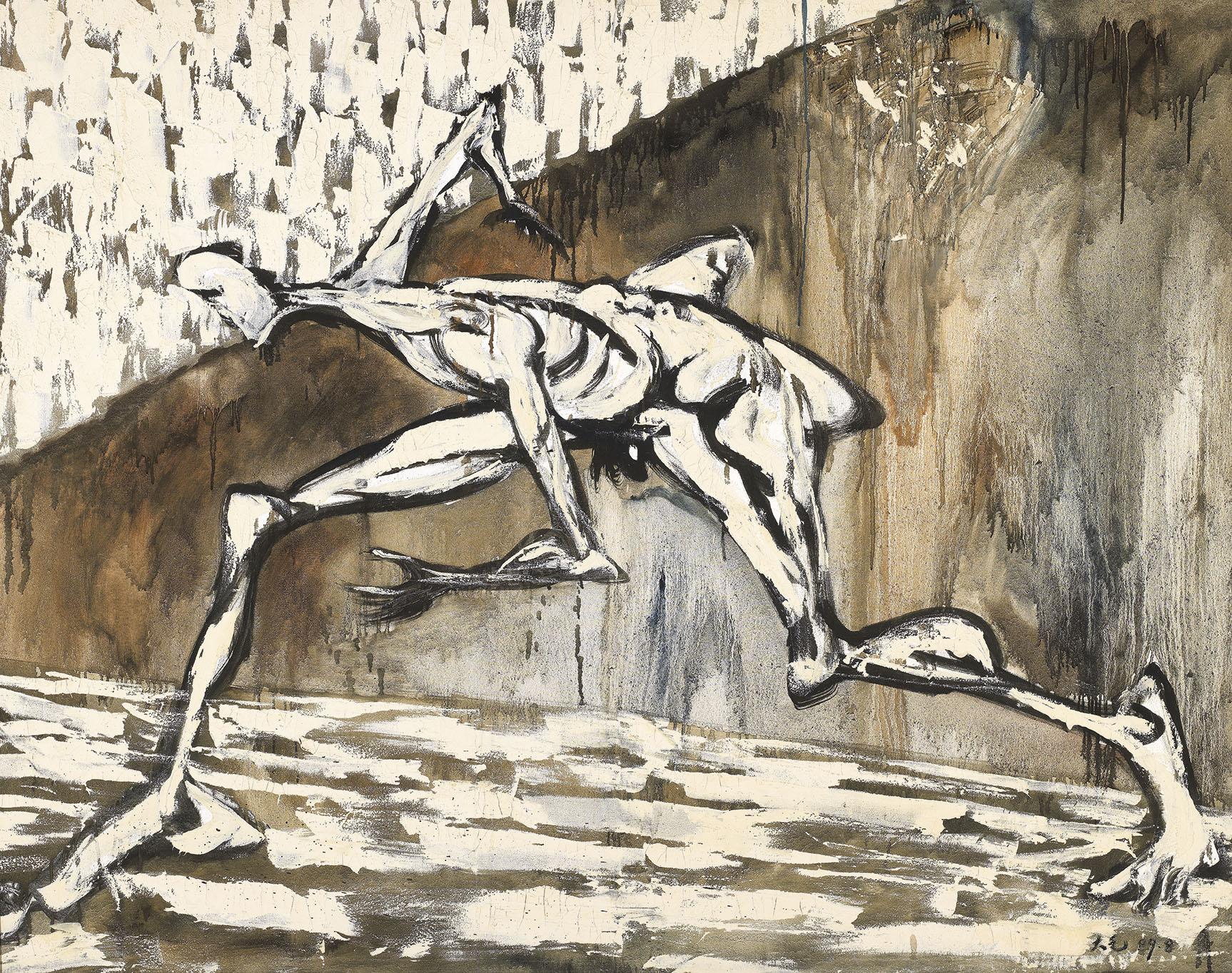Human Figure in White: Escape