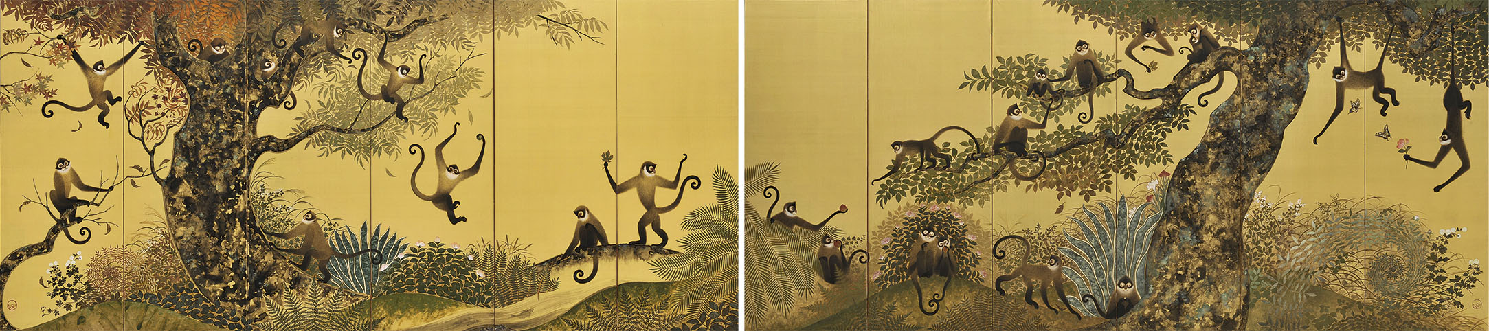 Joyful monkey; & Playful Monkey