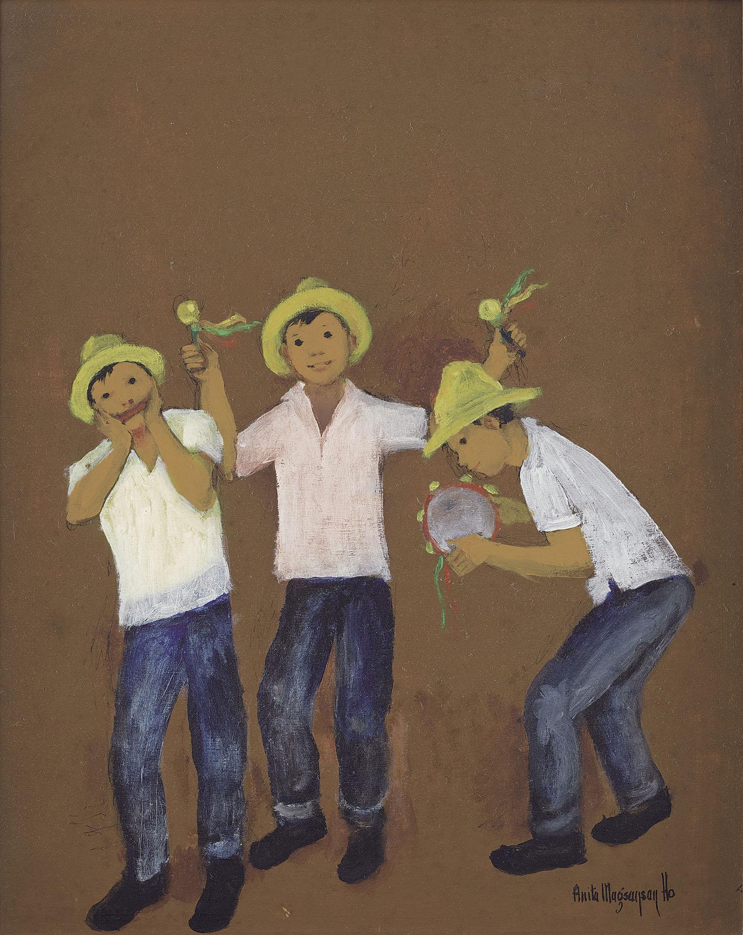 Three Boys At Play