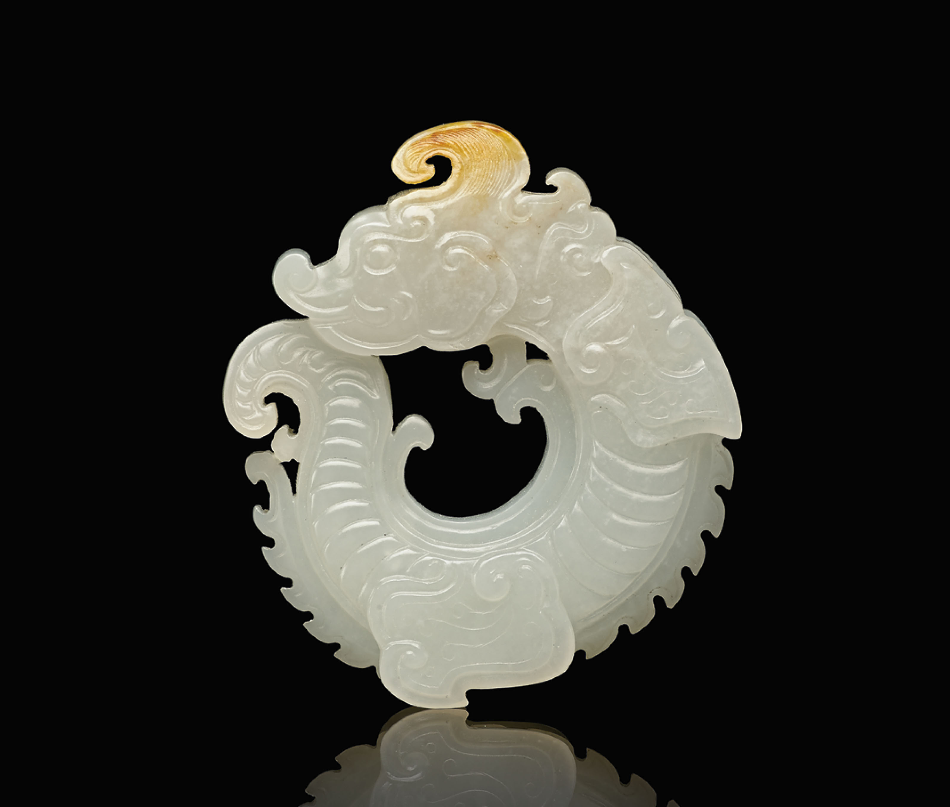 A white jade dragon pendant qing dynasty 1644 1911 all other a white jade dragon pendant aloadofball Images