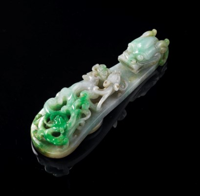 A LARGE JADEITE 'DRAGON' BELT