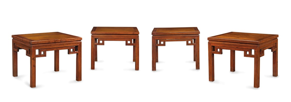 A SET OF FOUR LARGE HUANGHUALI