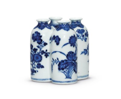 A BLUE AND WHITE 'FLOWERS OF T