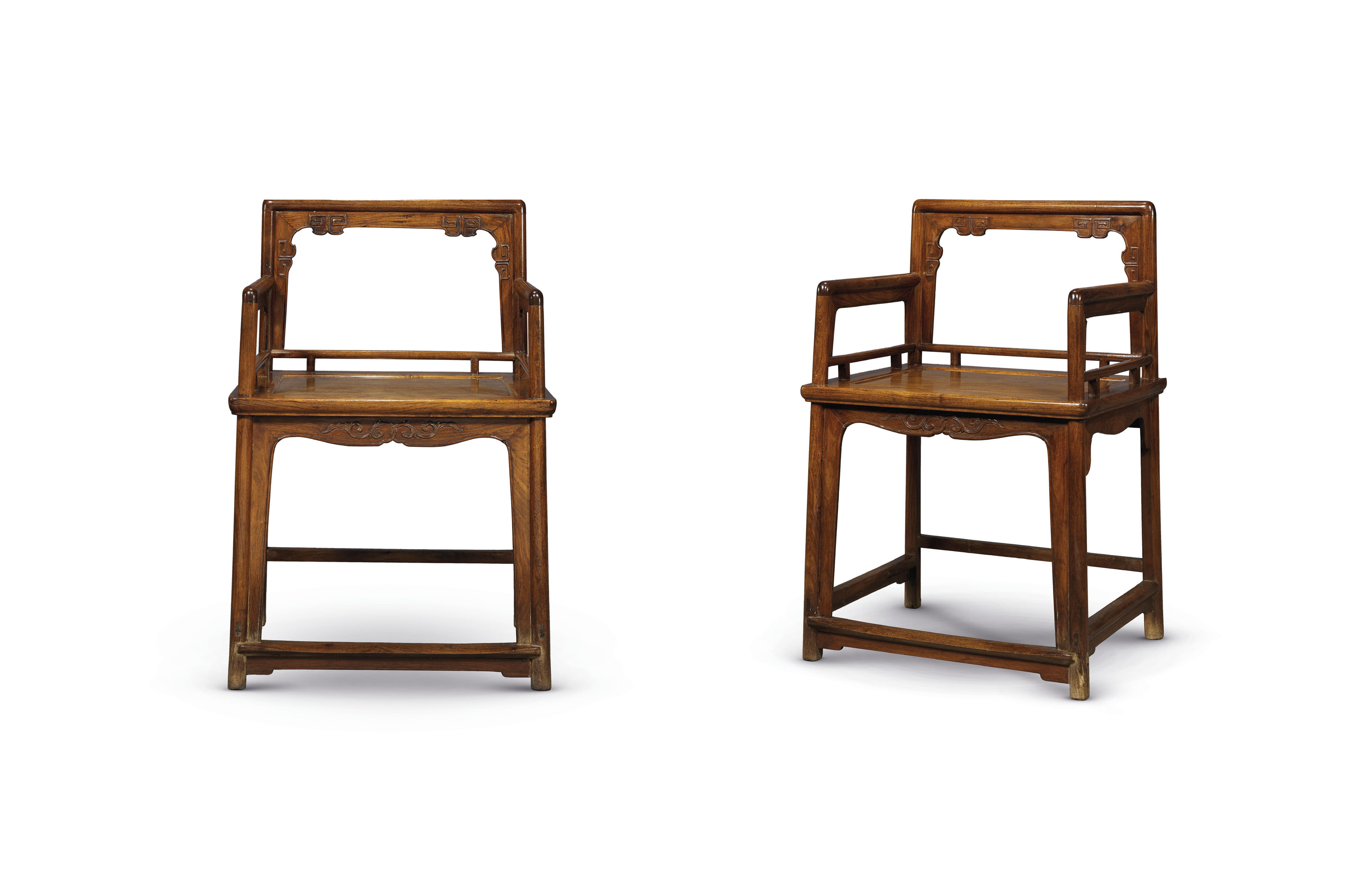 A Pair Of Huanghuali Lowback