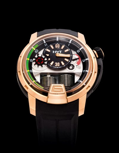 HYT. A FINE 18K PINK GOLD AND