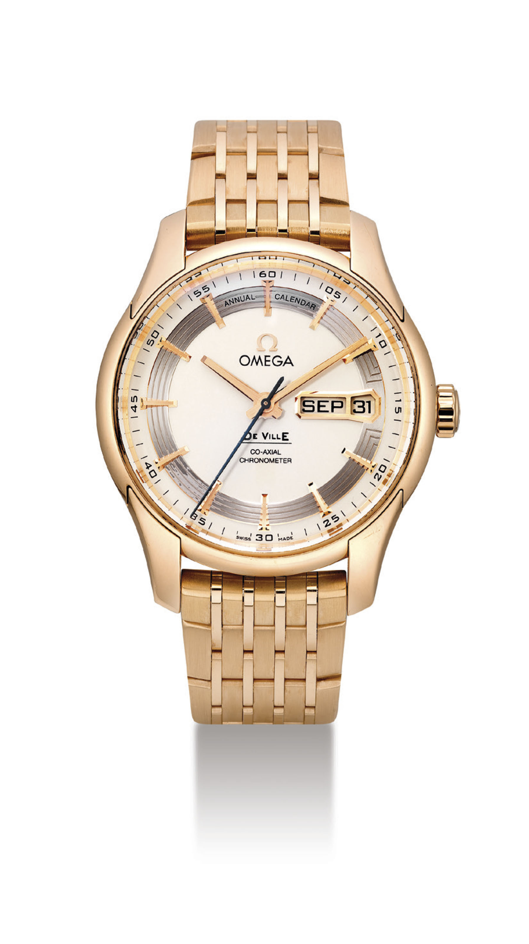 OMEGA. AN 18K PINK GOLD AUTOMA