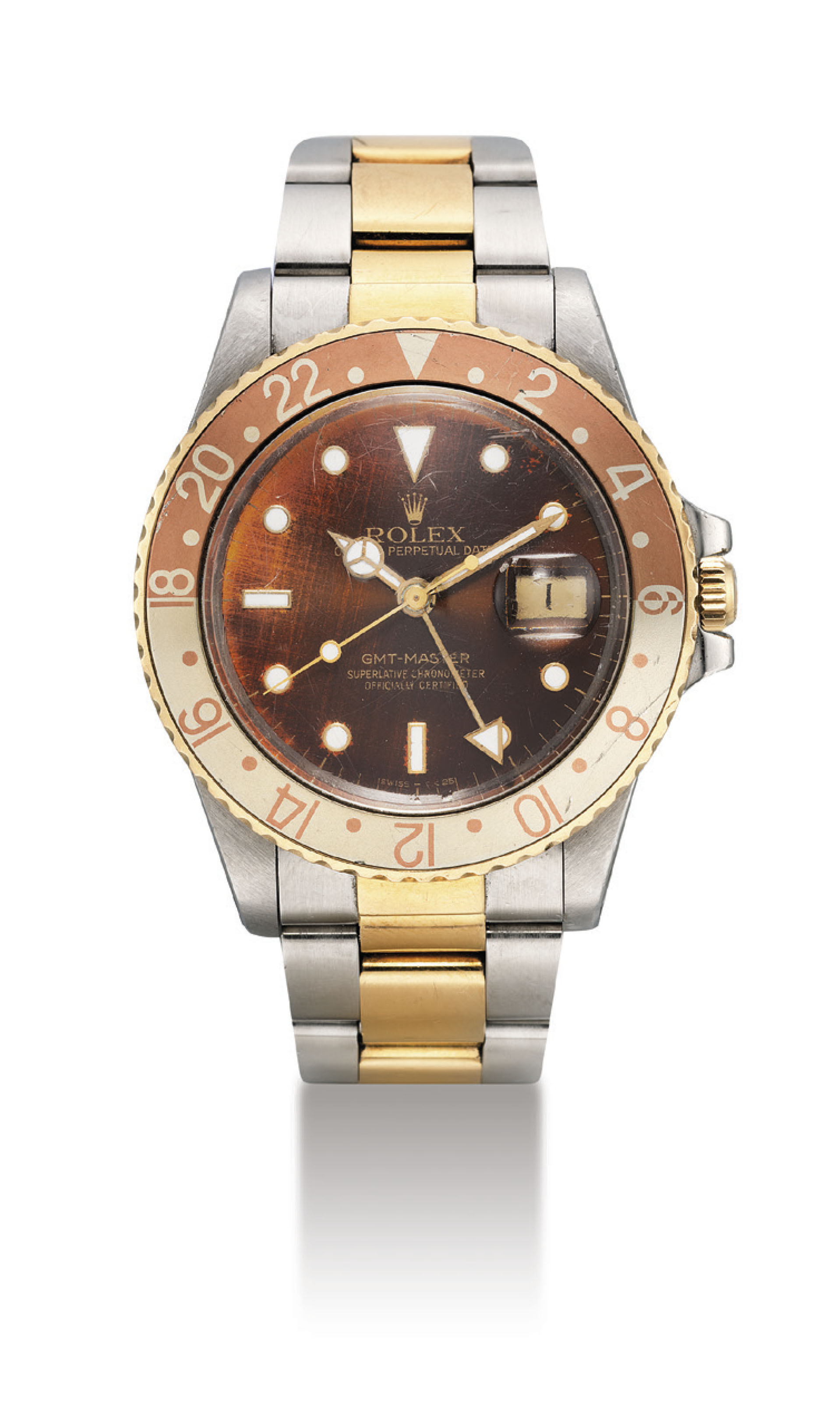 ROLEX. A STAINLESS STEEL AND 1