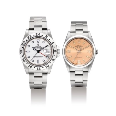 ROLEX. A LOT OF TWO STAINLESS