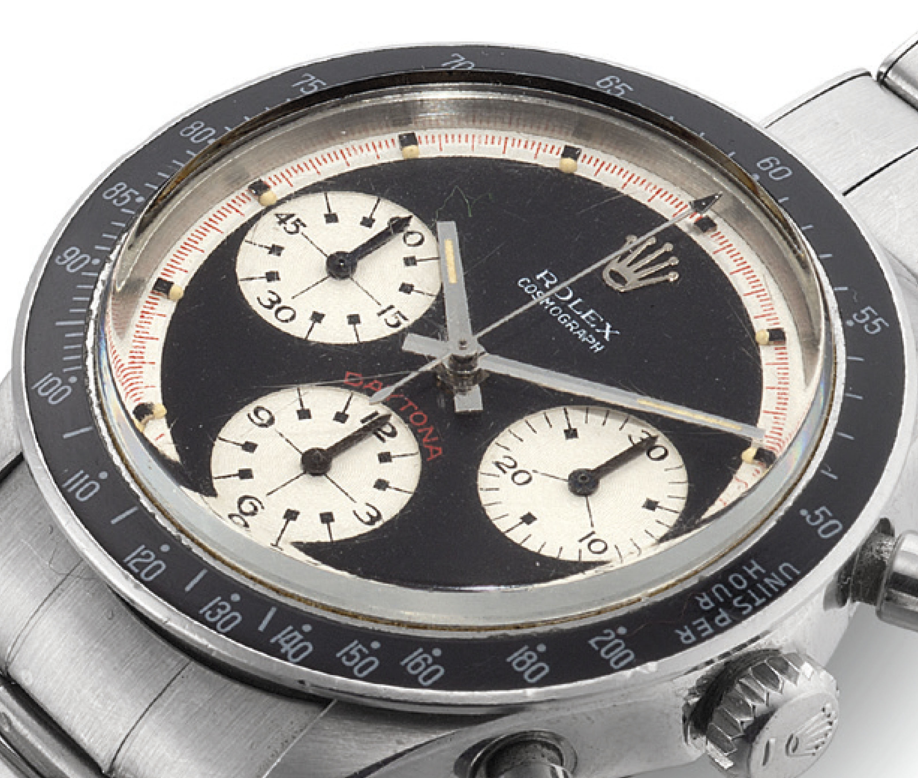 ROLEX. A RARE AND FINE STAINLE