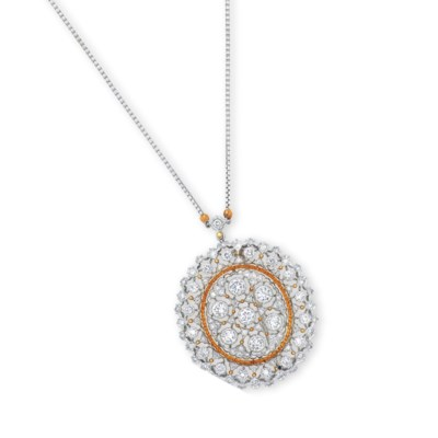 A DIAMOND PENDANT NECKLACE/BRO
