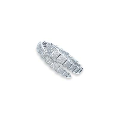 A DIAMOND 'SERPENTI' BANGLE, B