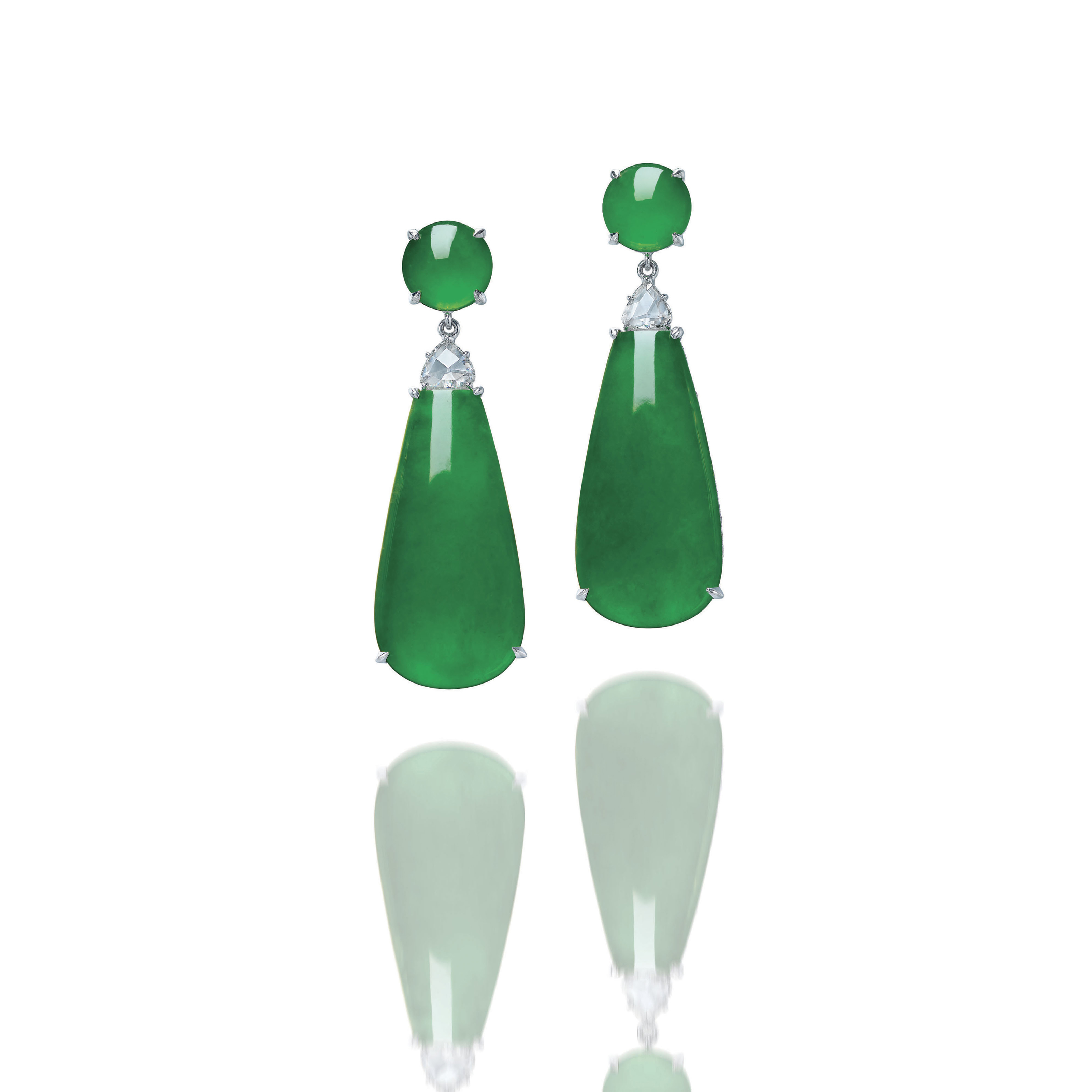 AN IMPORTANT PAIR OF JADEITE A