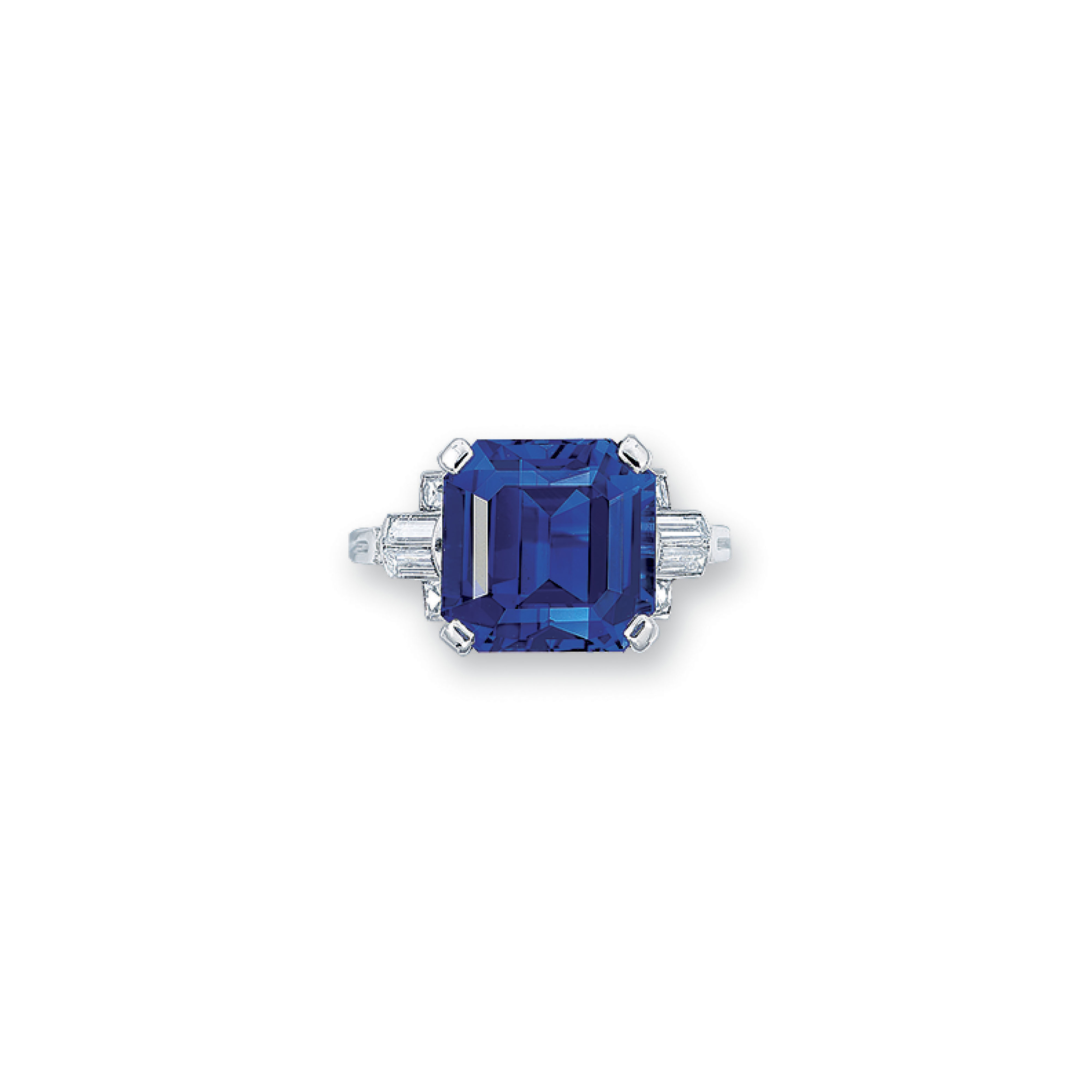 AN IMPORTANT SAPPHIRE AND DIAMOND RING, BY TIFFANY & CO.
