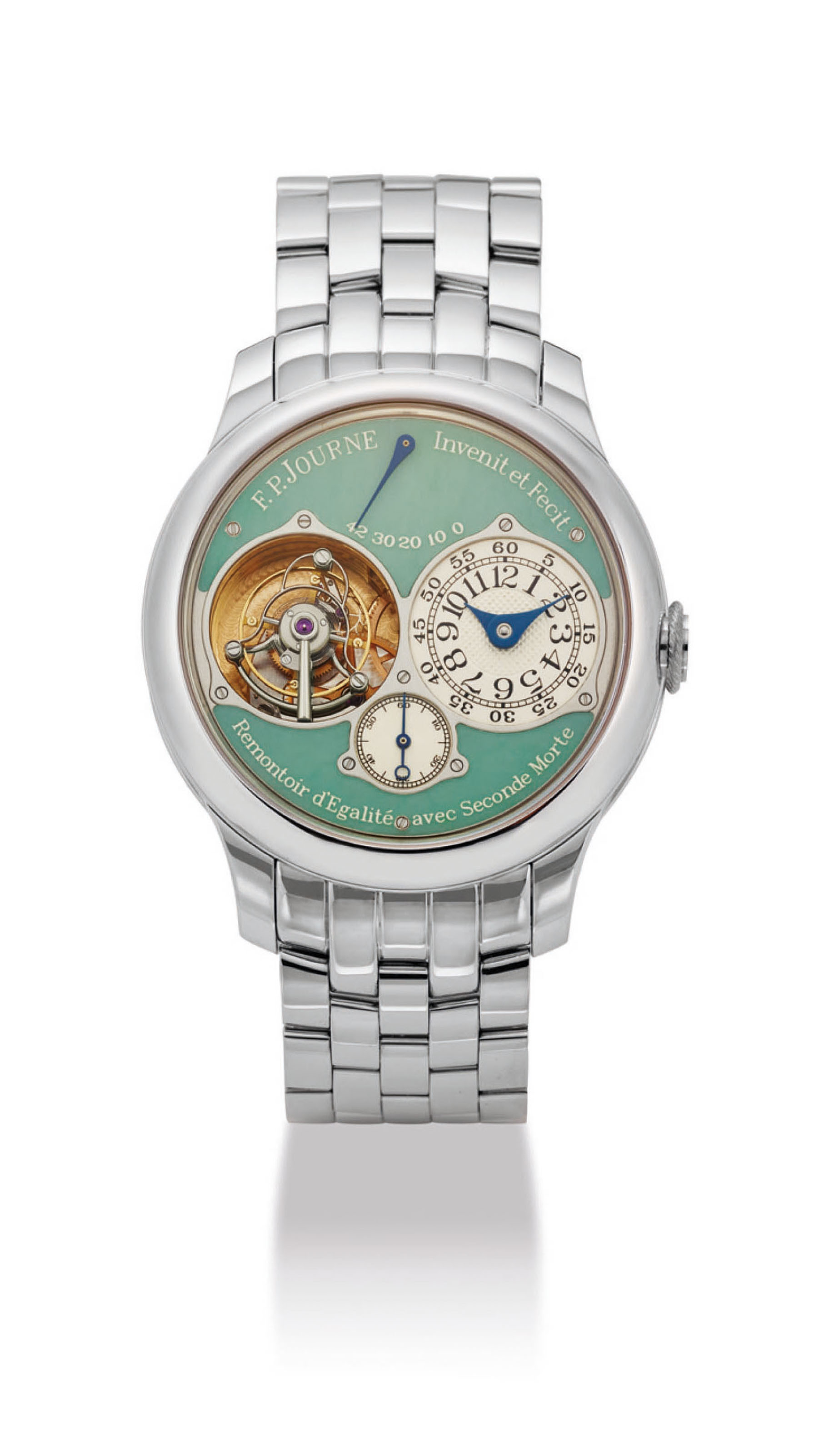 F.P. Journe, Tourbillon with jade dial, 2015. Sold for HK$1,187,500 on 28 November 2016 at Christie's in Hong Kong