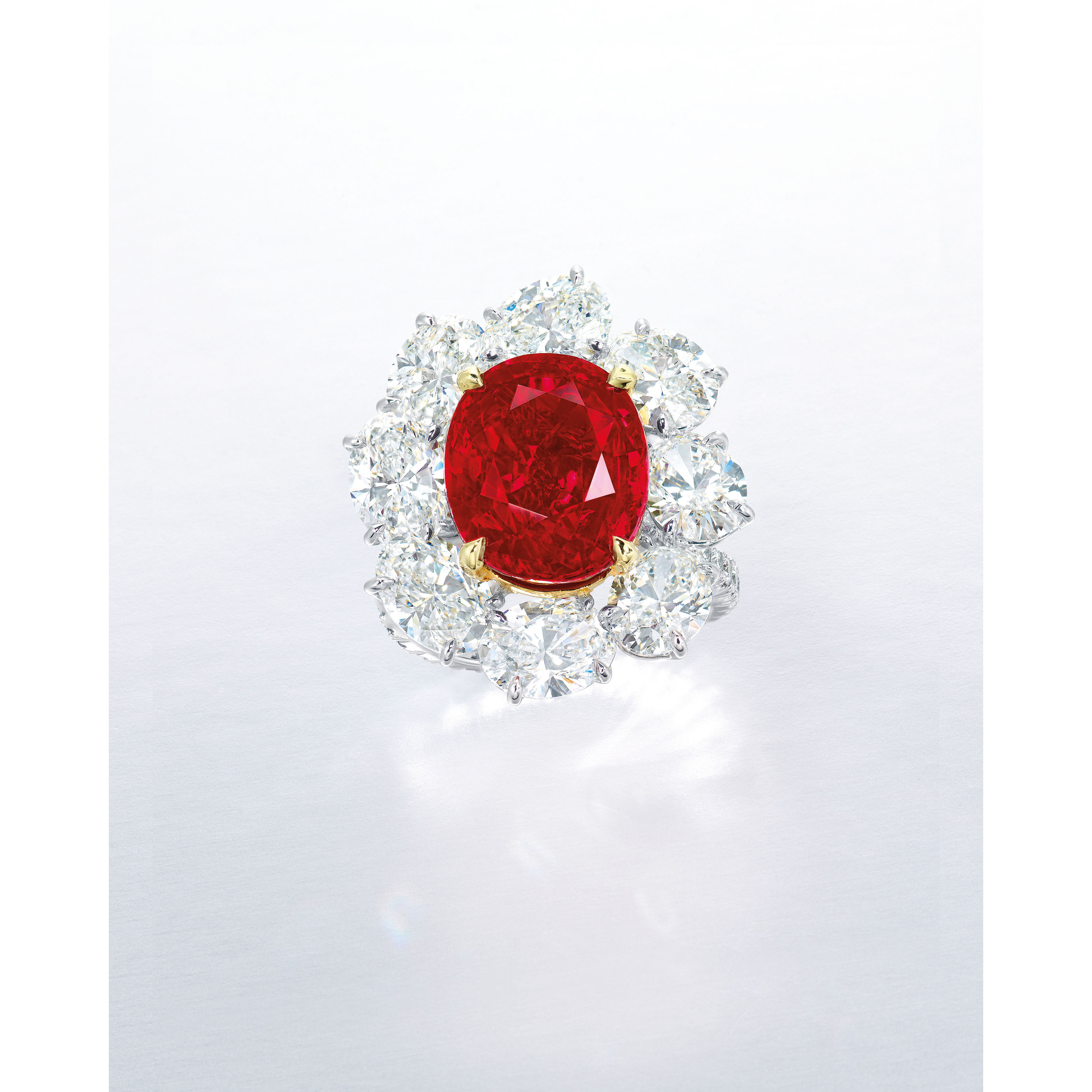 A SUPERB RUBY AND DIAMOND RING, BY FAIDEE