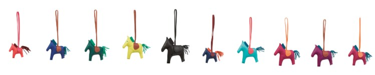 A SET OF 10 RODEO CHARMS