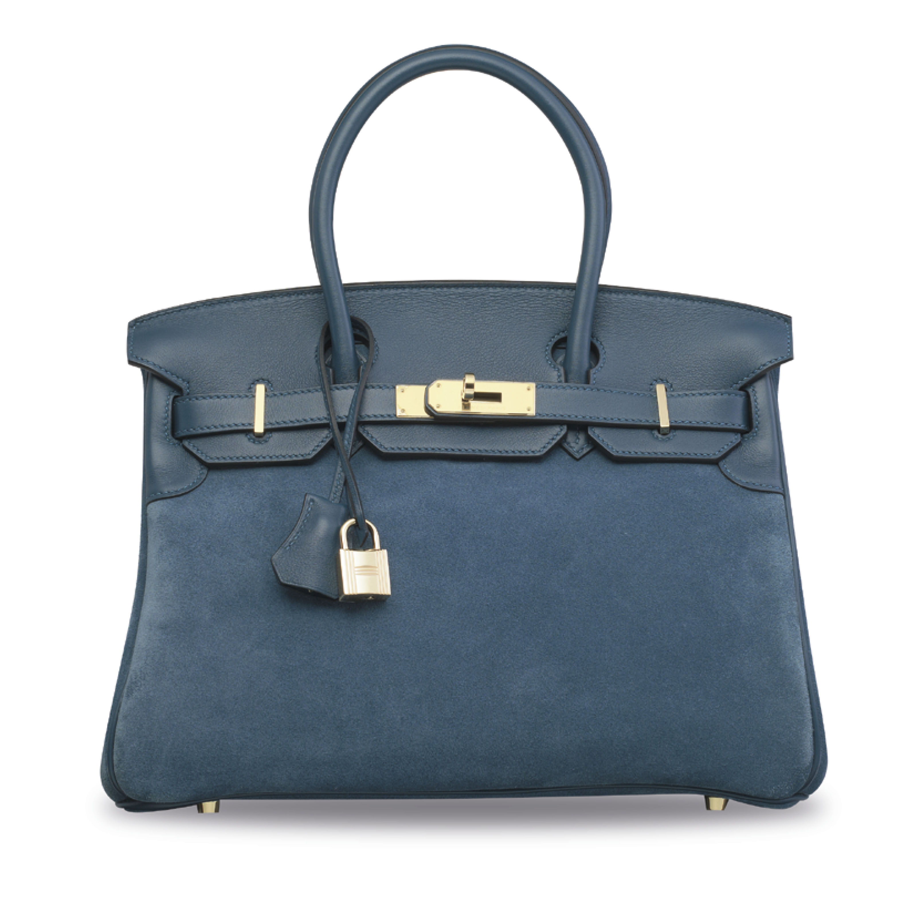 A LIMITED EDITION BLEU THALASSA GRIZZLY BIRKIN 30 WITH PERMABRASS HARDWARE