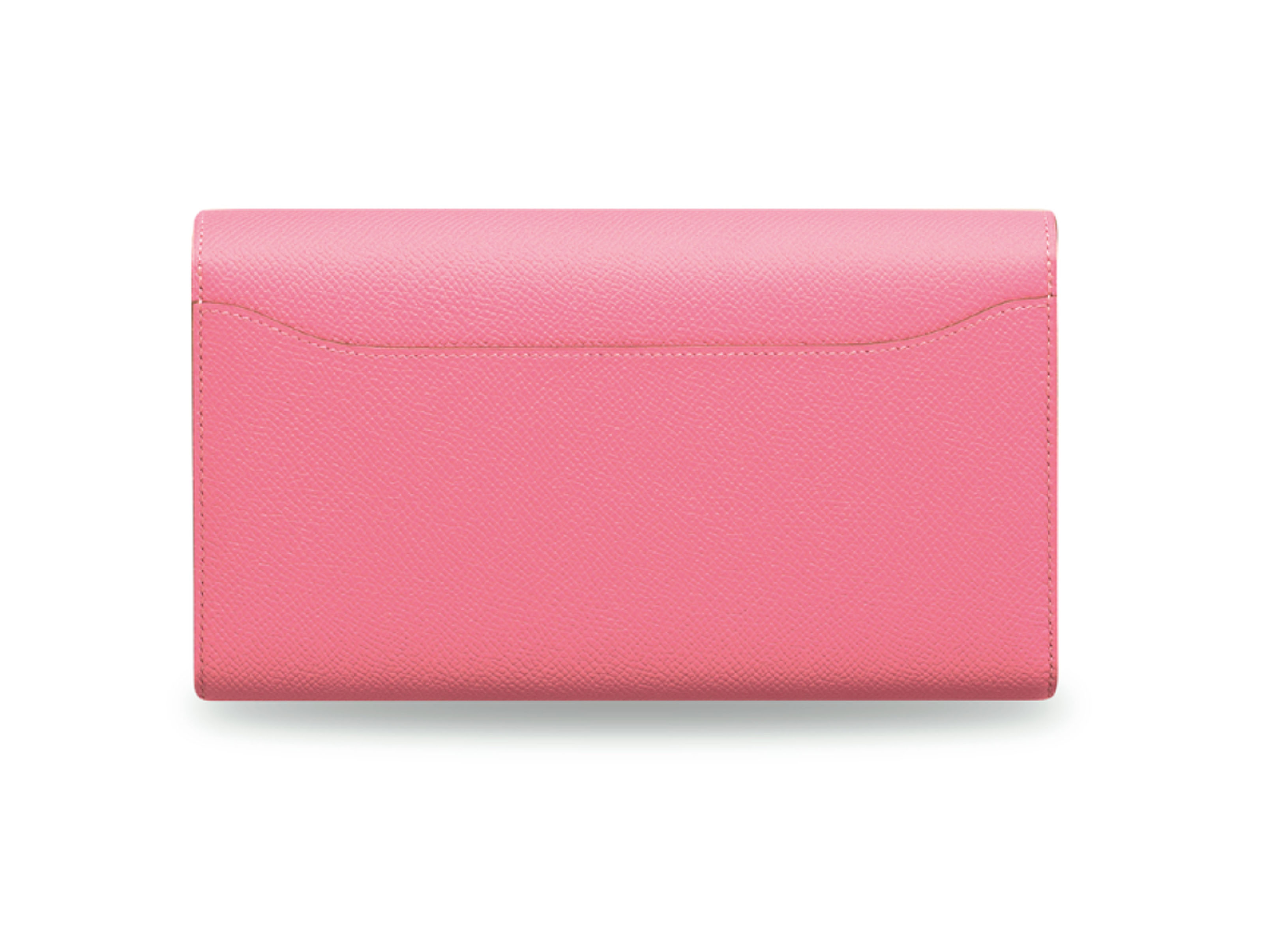 A ROSE CONFETTI EPSOM LEATHER CONSTANCE WALLET WITH PALLADIUM HARDWARE