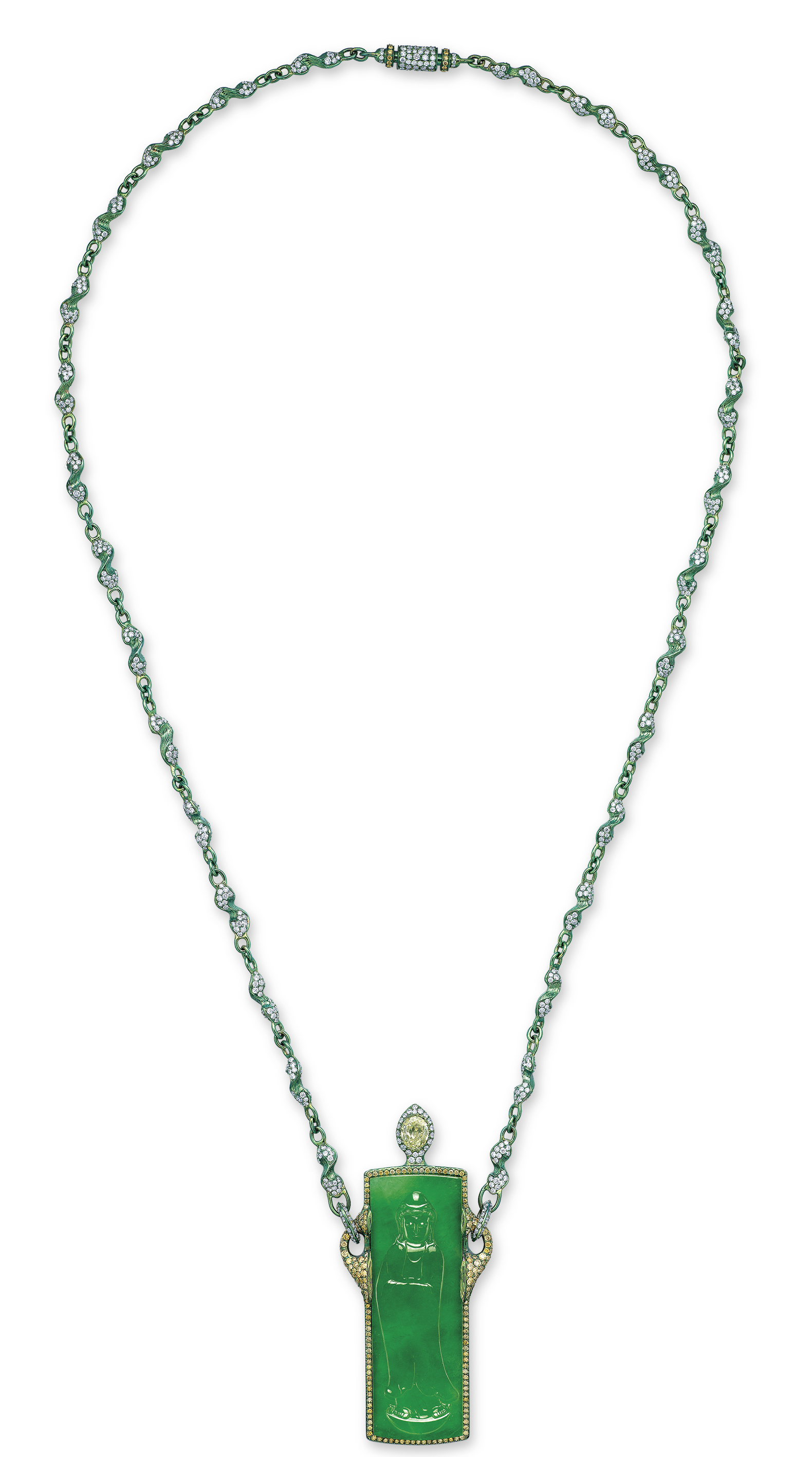 A unique multi gem eternal joy pendant necklace by wallace chan lot 3018 aloadofball Gallery