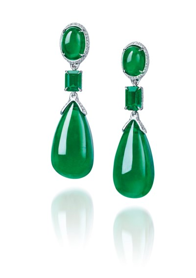 AN EXCEPTIONAL PAIR OF EMERALD