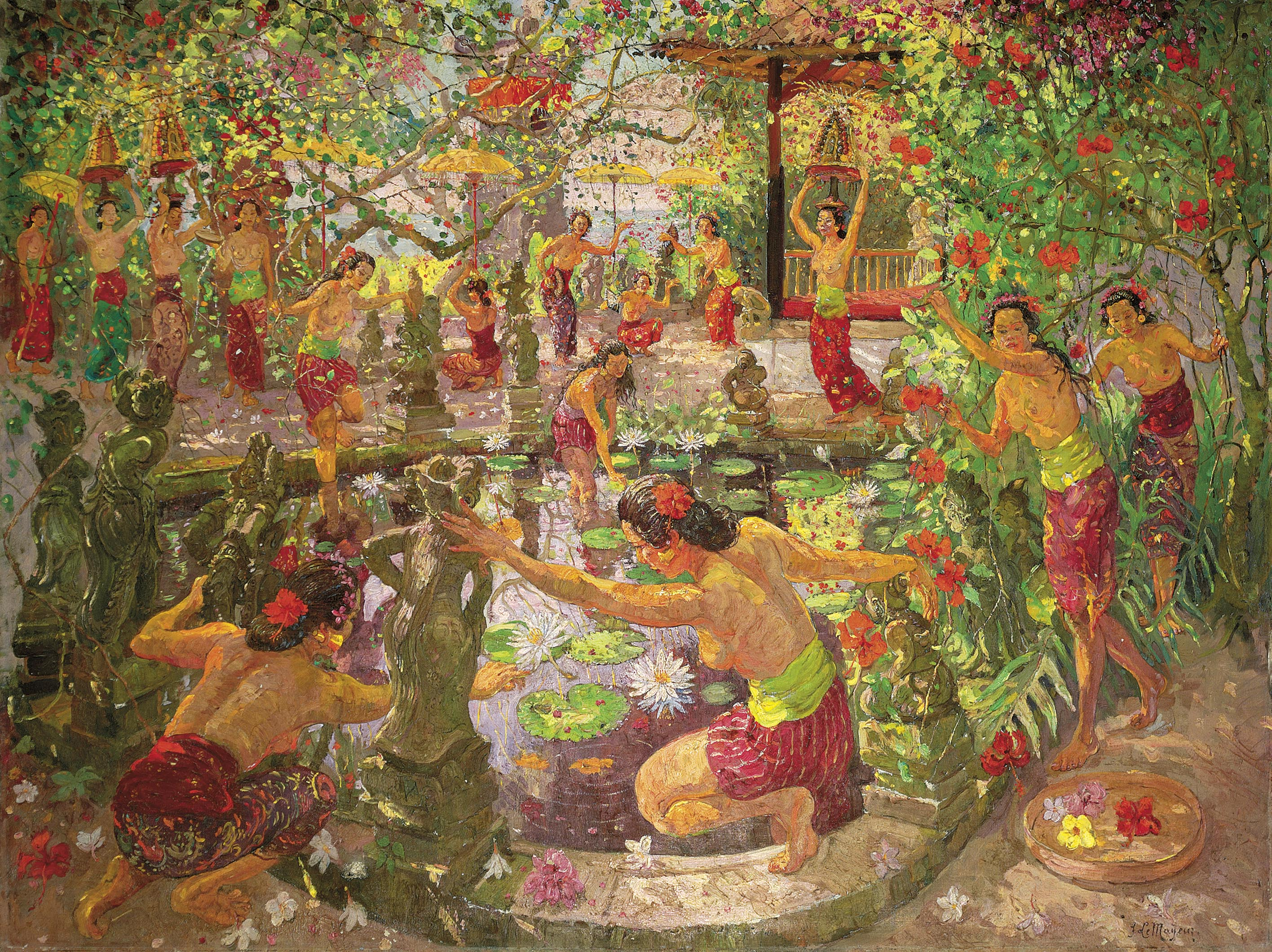 Women Around the Lotus Pond