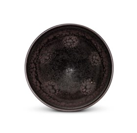 A SMALL NORTHERN 'OIL SPOT' BLACK-GLAZED BOWL