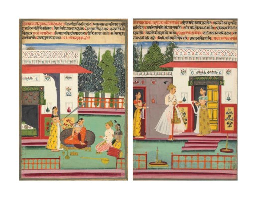 Two paintings from a Ragamala