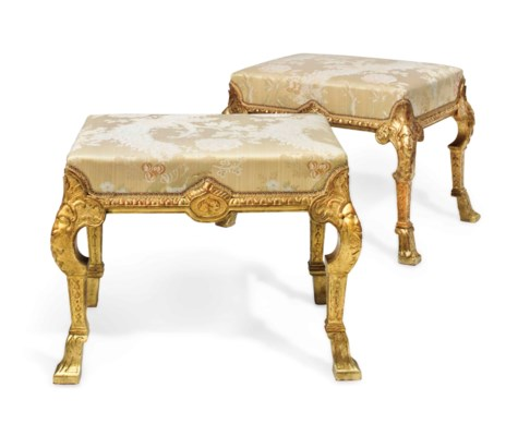 A PAIR OF GEORGE I GILTWOOD ST