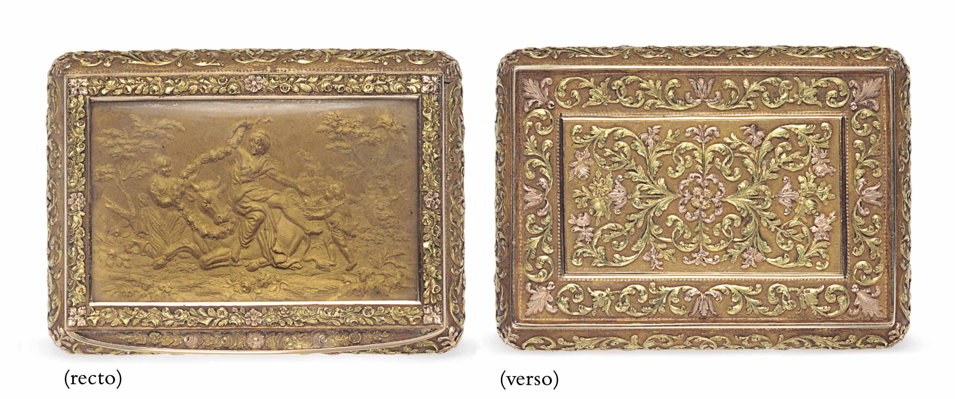 A SWISS VARI-COLORED GOLD BOX