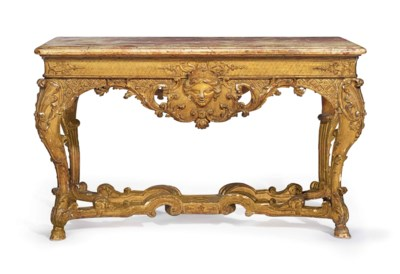 A REGENCE GILTWOOD CENTER TABL