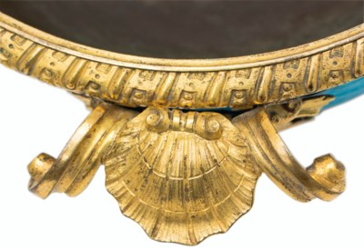 A REGENCE ORMOLU-MOUNTED CHINE