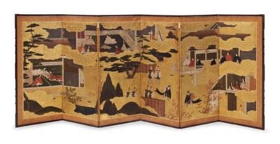 A JAPANESE GILT AND POLYCHROME