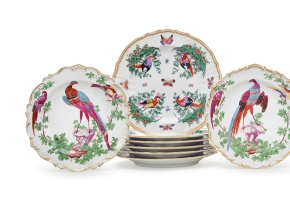 A GROUP OF ENGLISH PORCELAIN D