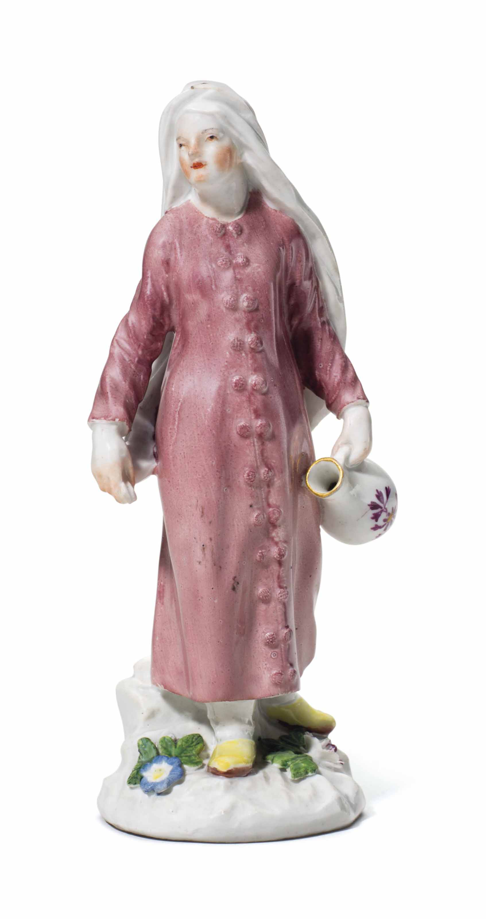 A MEISSEN PORCELAIN FIGURE OF