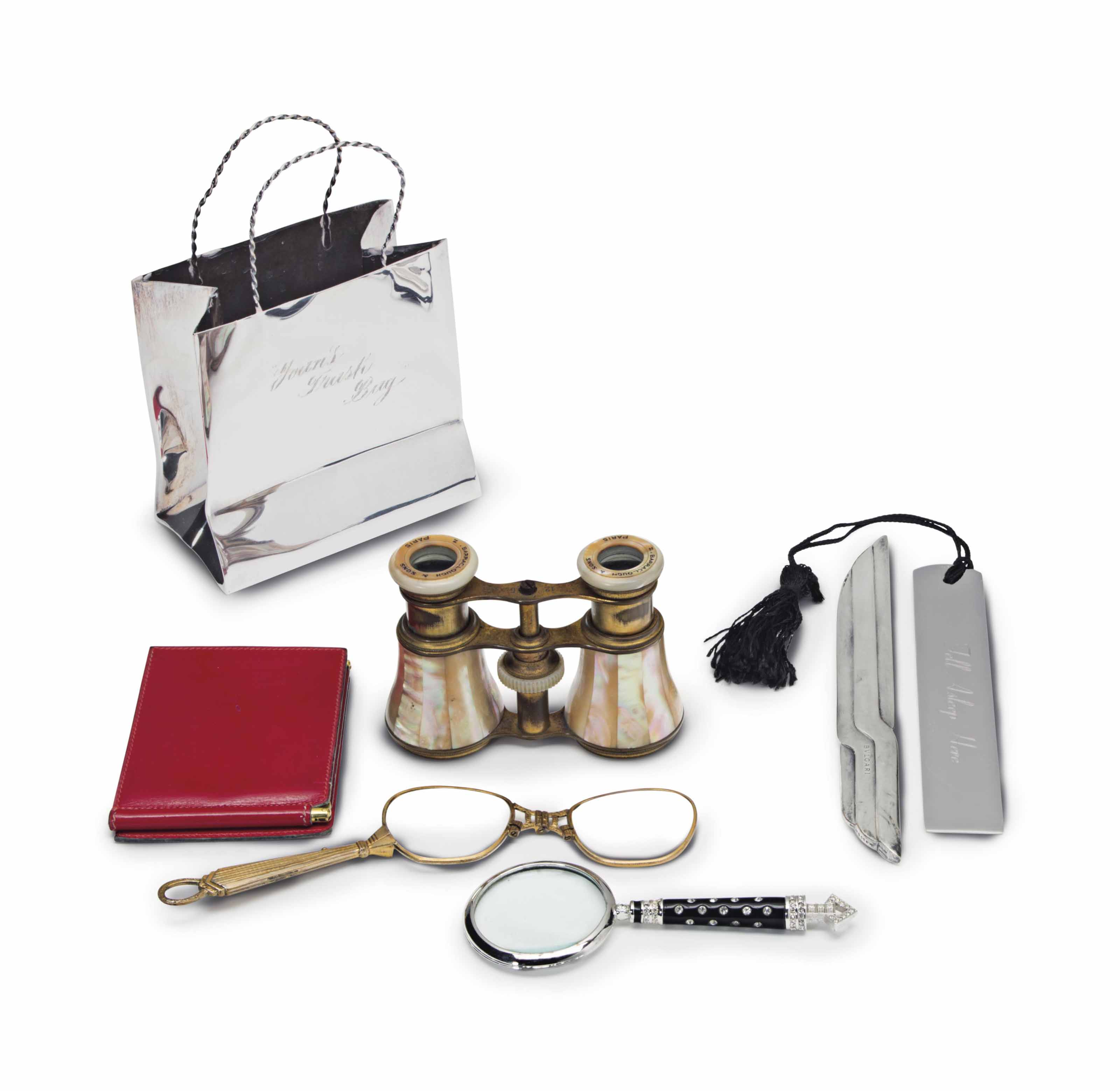 bac8391df6d8d JOAN RIVERS  FRENCH SILVER AND SILVER-MOUNTED DESK ACCESSORIES ...