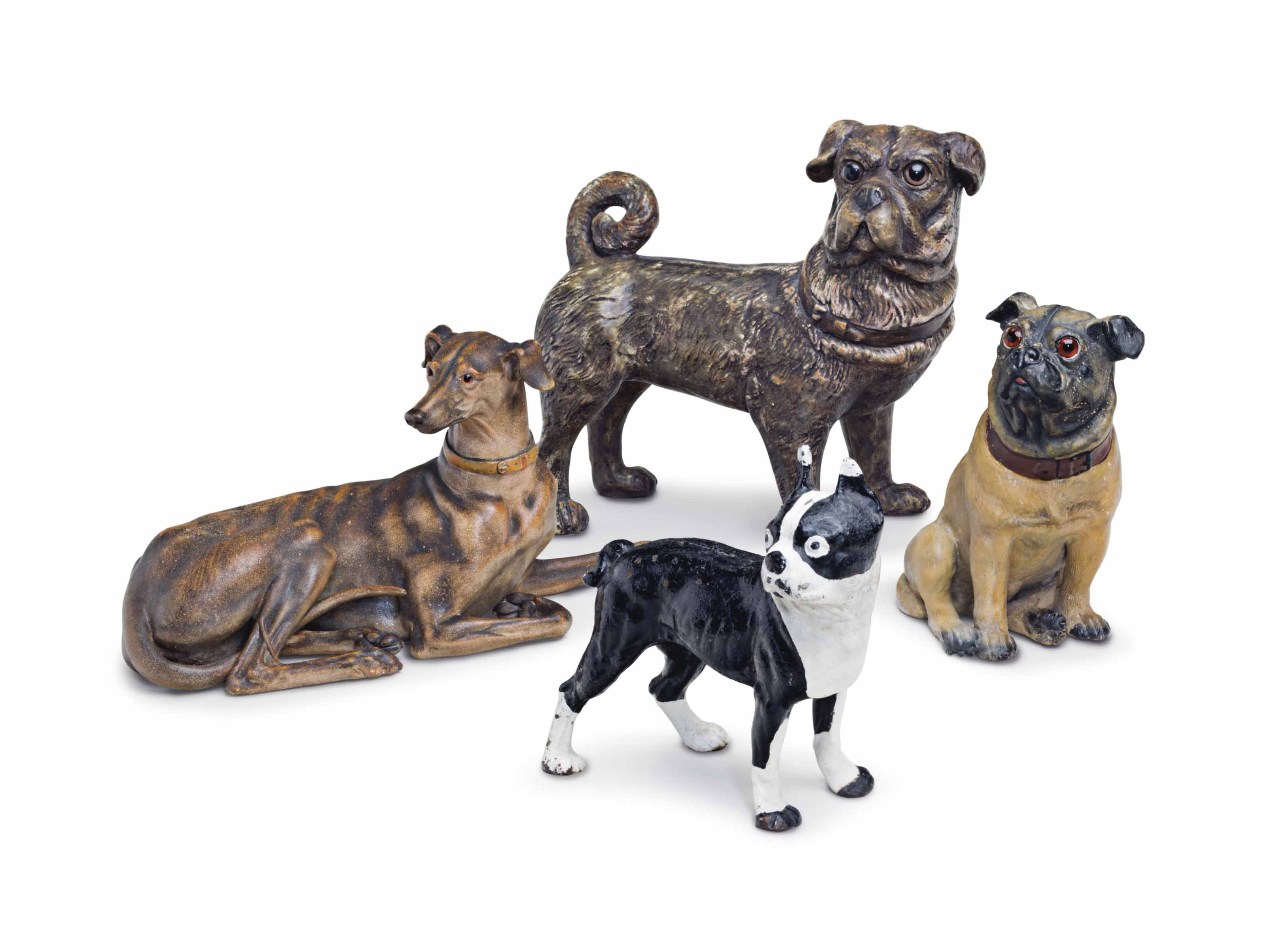 FOUR MODELS OF DOGS