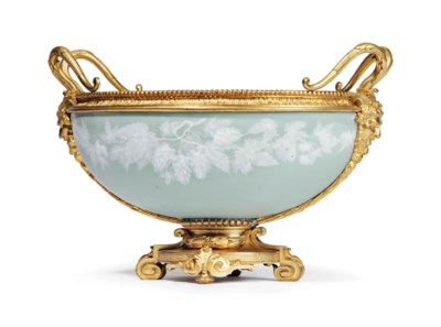 AN ORMOLU-MOUNTED FRENCH PORCE