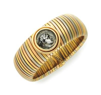 A GOLD COIN BRACELET, BY BULGA