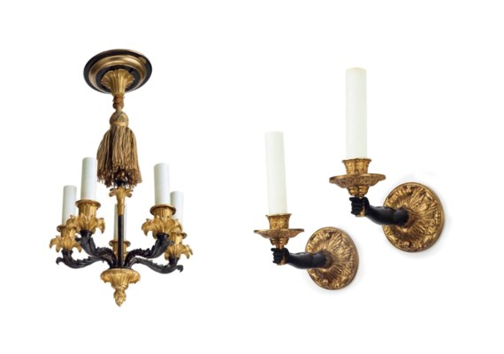 A PAIR OF ITALIAN ORMOLU AND B